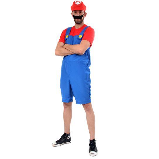 Fantasia Mario Adulto Verão - Super Mario  P