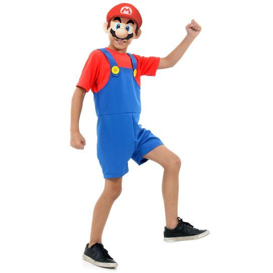 Fantasia Mario Bros Infantil Curto - Super Mario P