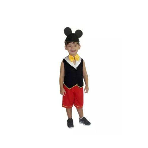 Fantasia Mickey Infantil Tam. 2
