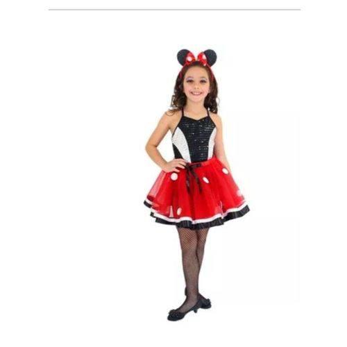 Fantasia Minnie Glamour Inf Tamanho 6