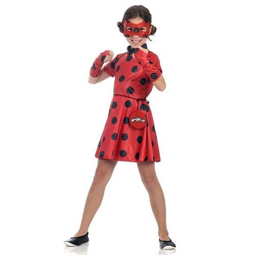 Fantasia Miraculous - Ladybug Vestido - SULAMERICANA