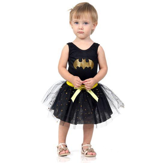 Fantasia Mulher Batgirl Bebê - Dress Up P