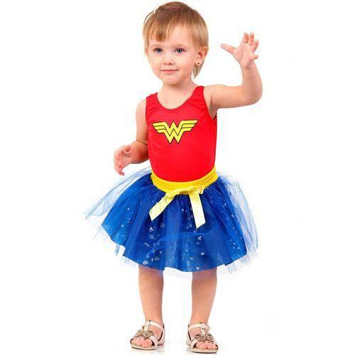 Fantasia Mulher Maravilha Bebê Dress - Up 0 a 1 Ano - P 0 - 1