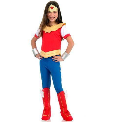 Fantasia Mulher Maravilha Infantil Luxo Dc Super Hero Girls