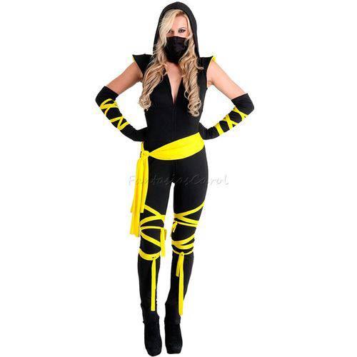 Fantasia Ninja Adulto Feminino Heat Girl Completa Sulamericana