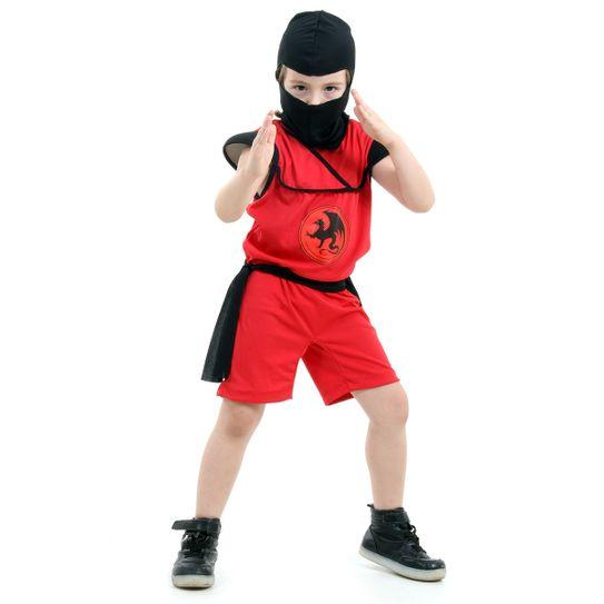 Fantasia Ninja Curto Infantil Pop - Guerreiro Ninja P