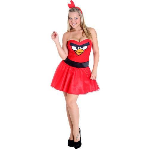 Fantasia Passaro Vermelho Angry Birds Adulto - Heat Girls