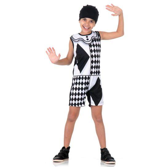 Fantasia Pierrot Infantil Super Pop P