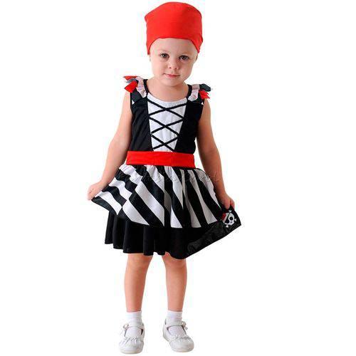 Fantasia Pirata Bebê Feminina Sulamericana