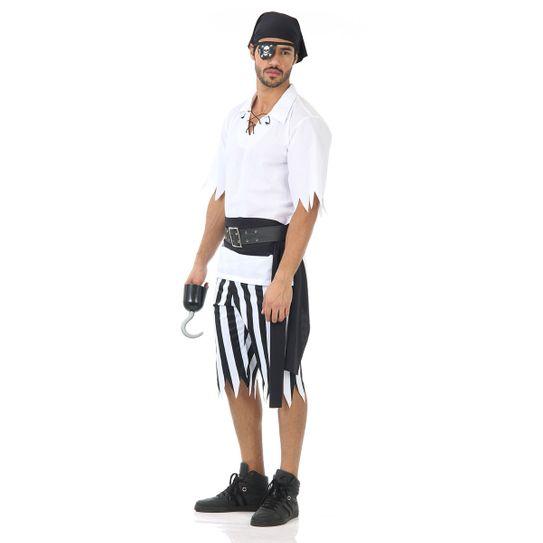 Fantasia Pirata Black Masculino Adulto M