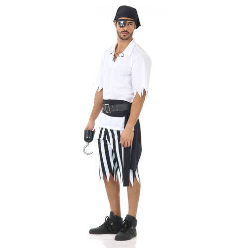 Fantasia Pirata Black Masculino Adulto