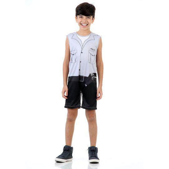 Fantasia Policial Infantil Super Pop M