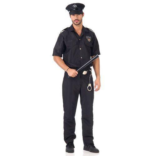 Fantasia Policial Masculino Adulto GG Única