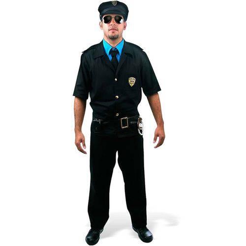 Fantasia Policial Masculino Adulto Sulamericana - P