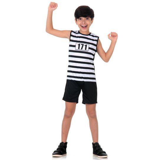 Fantasia Presidiario Infantil Super Pop P
