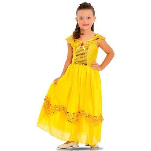Fantasia Princesa Dourada 20907 - Sulamericana