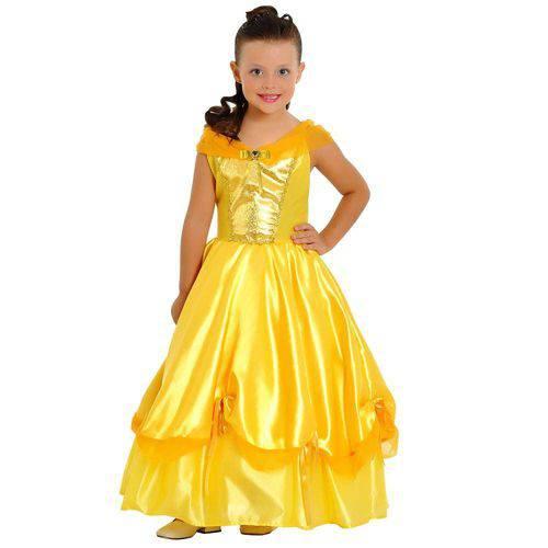 Fantasia Princesa Dourada Luxo G Ref.35007g Sulamericana