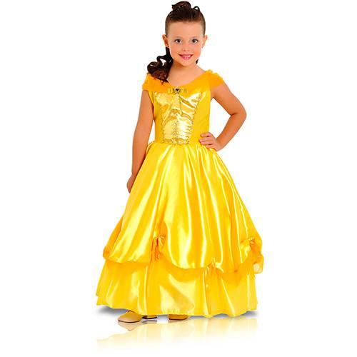 Fantasia Princesa Dourada Luxo - Sulamericana Fantasias