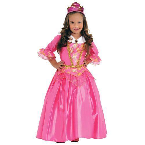Fantasia Princesa Rosa Luxo G Ref.35006g Sulamericana