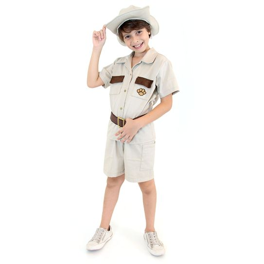 Fantasia Safari Masculino Infantil G