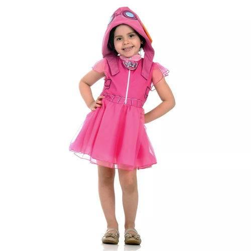 Fantasia Skye Patrulha Canina Infantil Vestido com Gorro Original Nickelodeon Sulamericana 25262