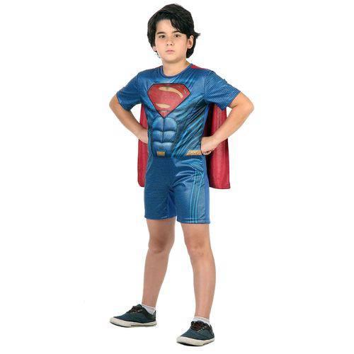 Fantasia Sulamericana C/ Musculatura Super Homem Azul e Vermelha P