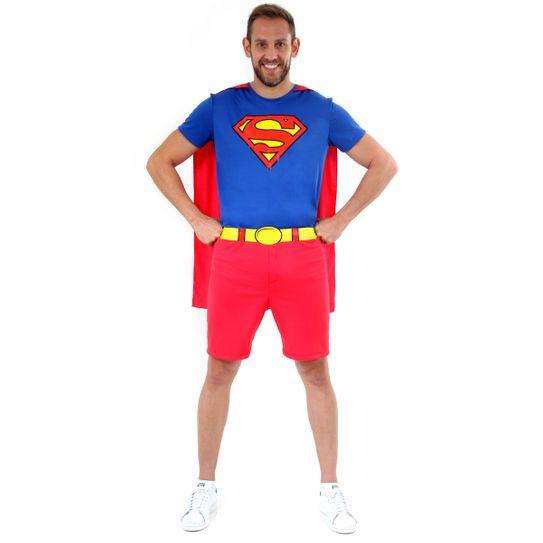 Fantasia Super Homem Curto Adulto P