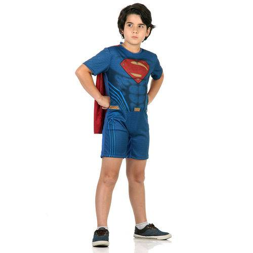 Fantasia Super Homem Infantil Curto - Liga da Justiça