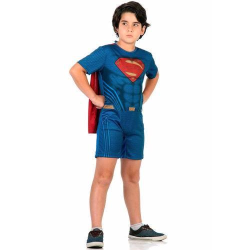 Fantasia Super Homem Infantil Curta Original Dc Comics Sulamericana 10893