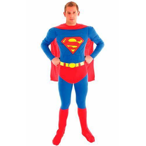 Fantasia Super Homem / Superman Adulto Luxo Sulamericana