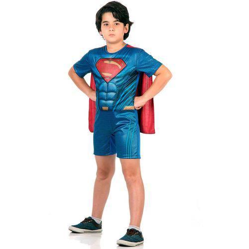 Fantasia Super Homem/ Superman Infantil Pop com Musculatura - Batman Vs Superman