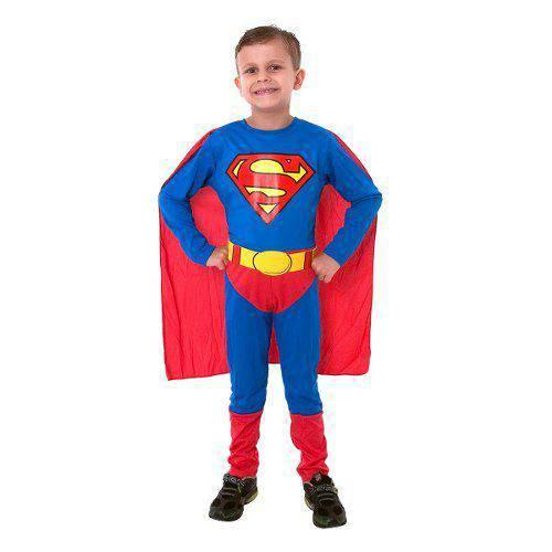 Fantasia Super Homem / Superman Luxo Classico Sulamericana