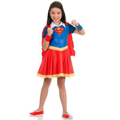 Fantasia Super Mulher Infantil Luxo Dc Super Hero Girls