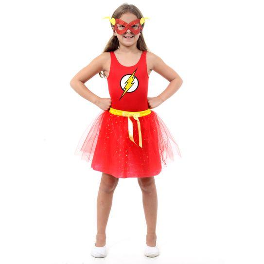 Fantasia The Flash Feminino Infantil - Dress Up P