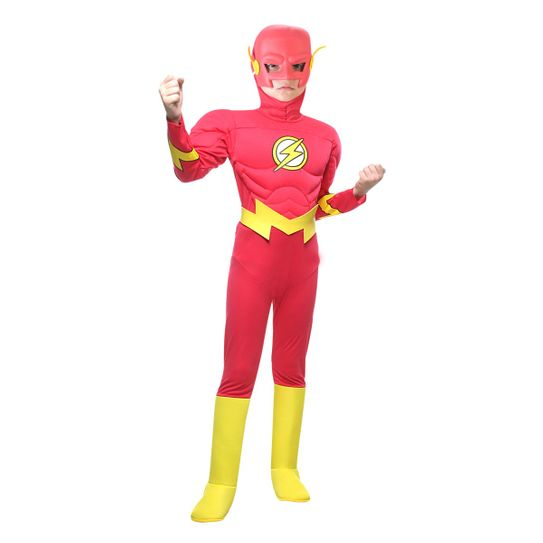 Fantasia The Flash Infantil com Peitoral - Luxo P