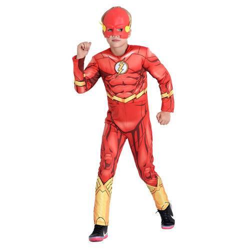 Fantasia The Flash Infantil Peitoral - DC M