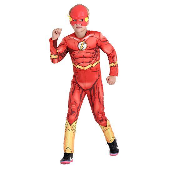 Fantasia The Flash Infantil Peitoral - DC P