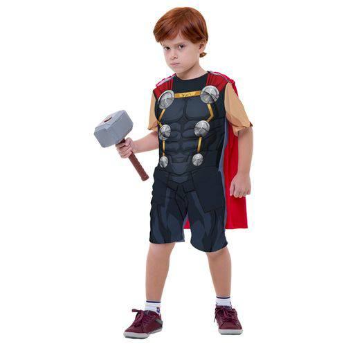Fantasia Thor Infantil Curta com Martelo Original Marvel Rubies 2122