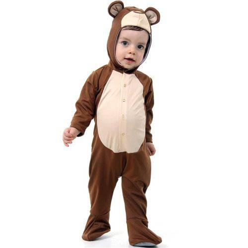 Fantasia Ursinho Bebe Menino Animais da Floresta 0 a 1 Ano - P - 1