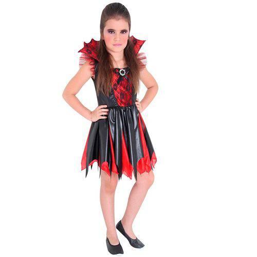 Fantasia Vampira Infantil Completa Halloween Sulamericana