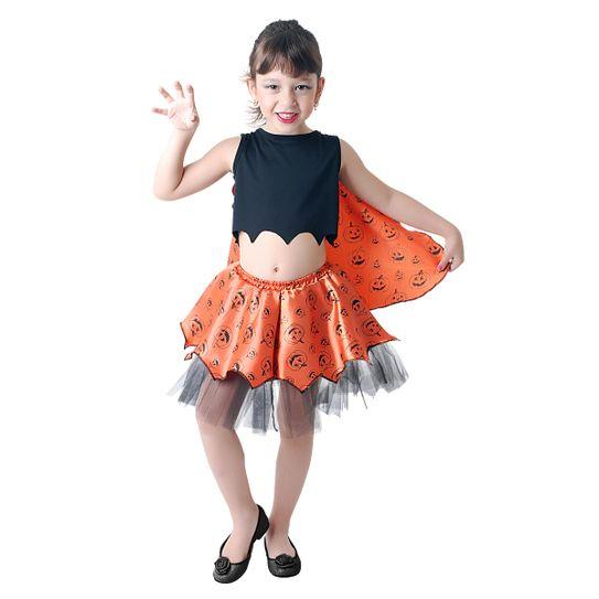 Fantasia Vampira Infantil Estampada Pop P