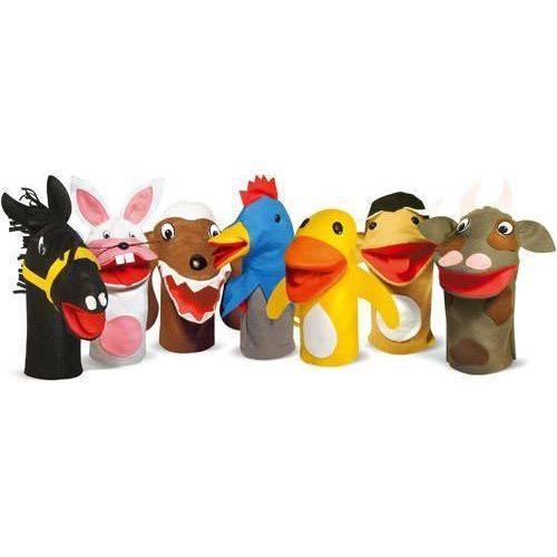 Fantoches de Animais Domésticos 7 Personagens em Feltro