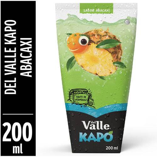 Fardo Lacrado com 12 Un de Suco Kapo Del Valle Abacaxi 200ml