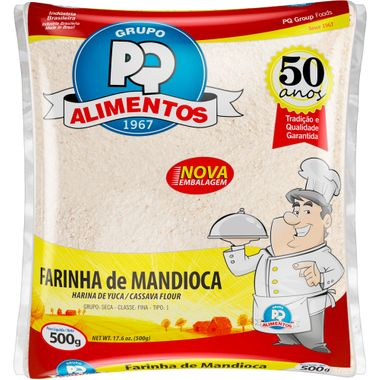 Farinha de Mandioca Crua PQ 500g
