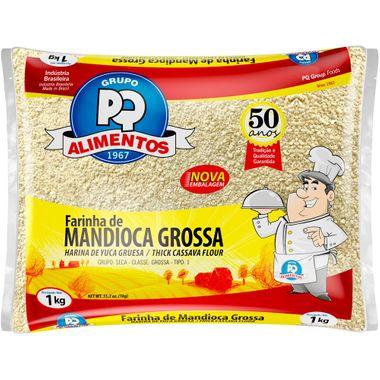 Farinha de Mandioca Grossa PQ 1kg