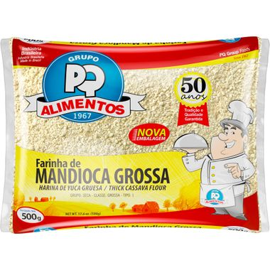 Farinha de Mandioca Grossa PQ 500g