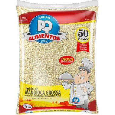 Farinha de Mandioca Grossa PQ 3kg