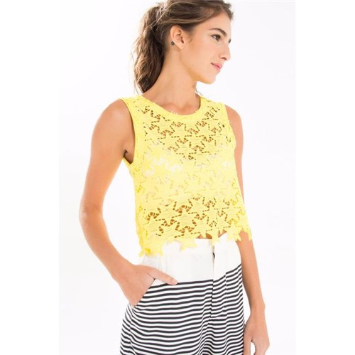 Farm | Blusa Estrelinhas Farm | Blusa Estrelinhas Amarelo Ouro - M