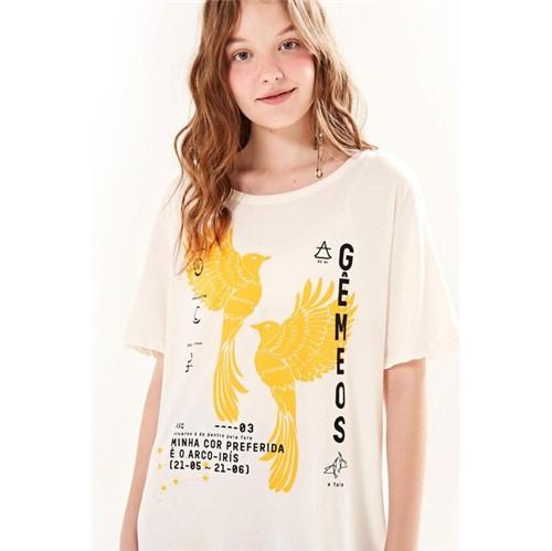 Farm | T-Shirt Silk Gêmeos - Off White - M