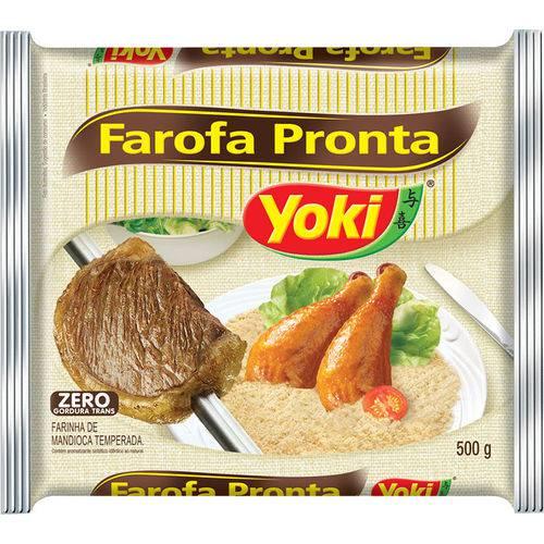 Farofa Pronta Yoki Mand Caixa com 24 Unid de 500gr